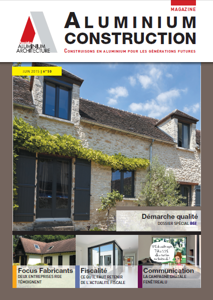 Couverture n°59 mag Alu constrcution